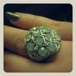 Jul 28 – cool ring – the photo does not do it justice as the stones have yellow highlights in them… love it!
