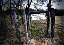 the cemetery gate. again.