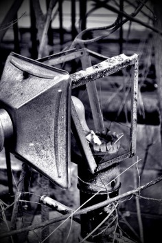 old yard lamp