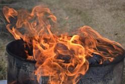 burning trash