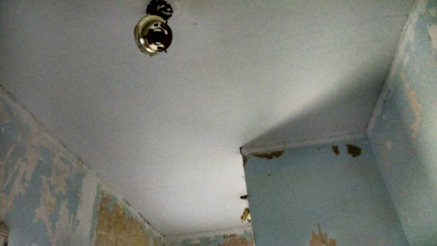 Bathroom ceiling looks good