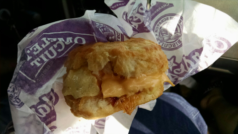 Omelette biscuit