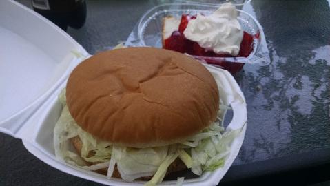 Chicken sandwich and shortcake ala Villisca Foods