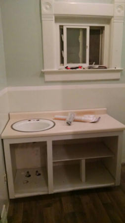 The sink cabinet I worked so hard on!