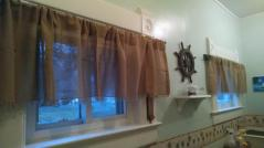 the bathroom curtains arrived!