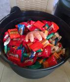Halloween! We ended up using almost all of this on trick or treaters!
