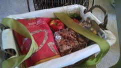 A surprise gift basket from our cousins June and Theresa