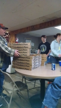 We had LOTS of pizza!
