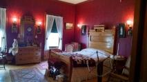 Caroline's room. I love that wallpaper