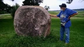 Dad and a big rock
