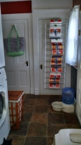 The closet and basement doors - those are paper towels on the door.