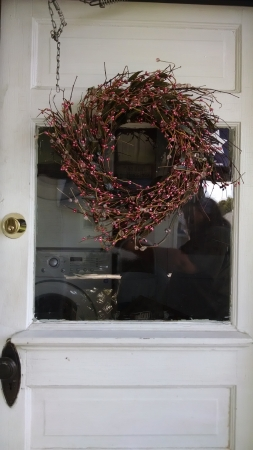 The wreath I had up before