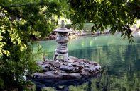 lantern on the pond